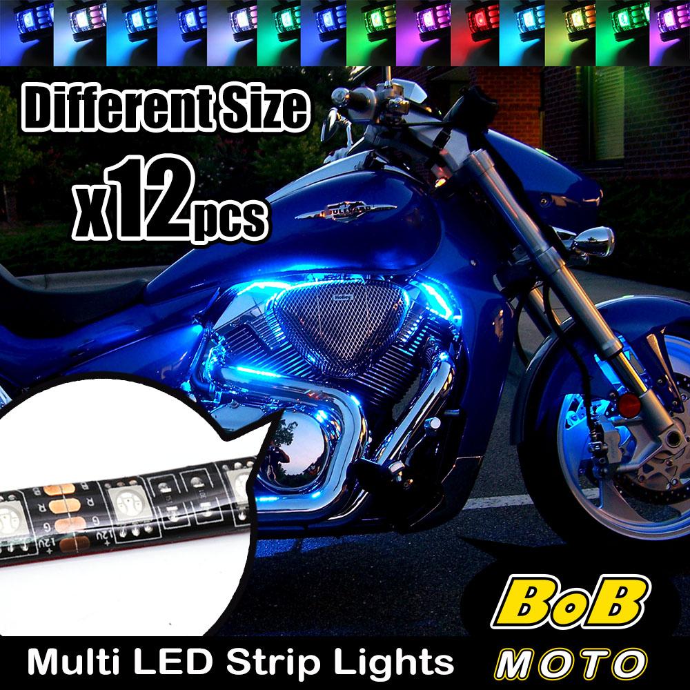 Rgb multi color glow led lights strips flexible remote kit for rgb multi color glow led lights strips flexible remote kit for suzuki bikes aloadofball Images
