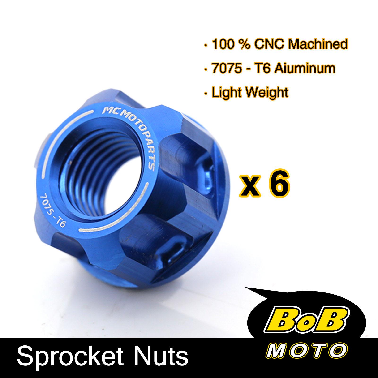 SV 650 6 Titanium Rear Sprocket Nuts Suzuki GSXR 600 750 1000 Hayabusa GSX-R