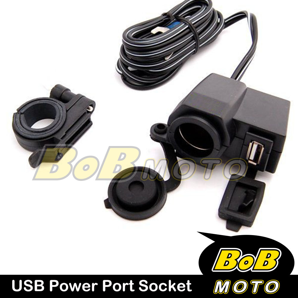 Usb Cable Charger Power Port Water Resistant 1a 12v 15a For Honda Bmw Motorcycle Fuse Box Motor Bike Ebay
